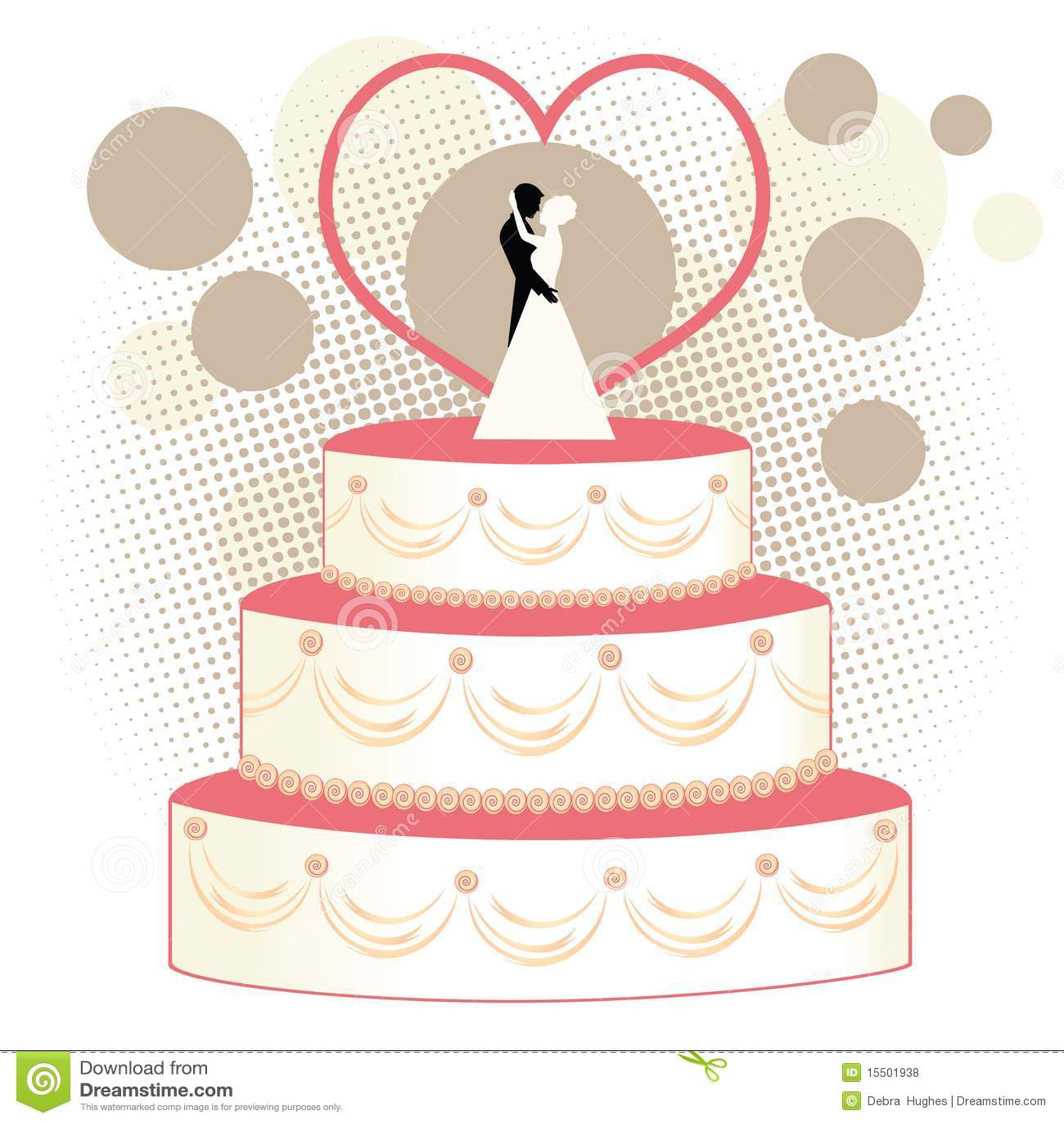 Wedding Cake Bride And Groom Royalty Free Stock s