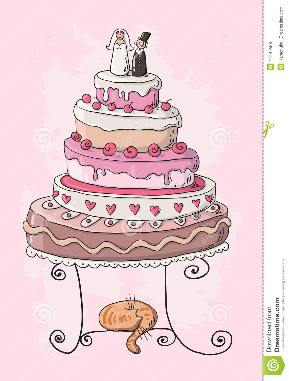 Wedding Cake Images Cartoon : Wedding Cake Cartoon Stock Images - Image: 27440554