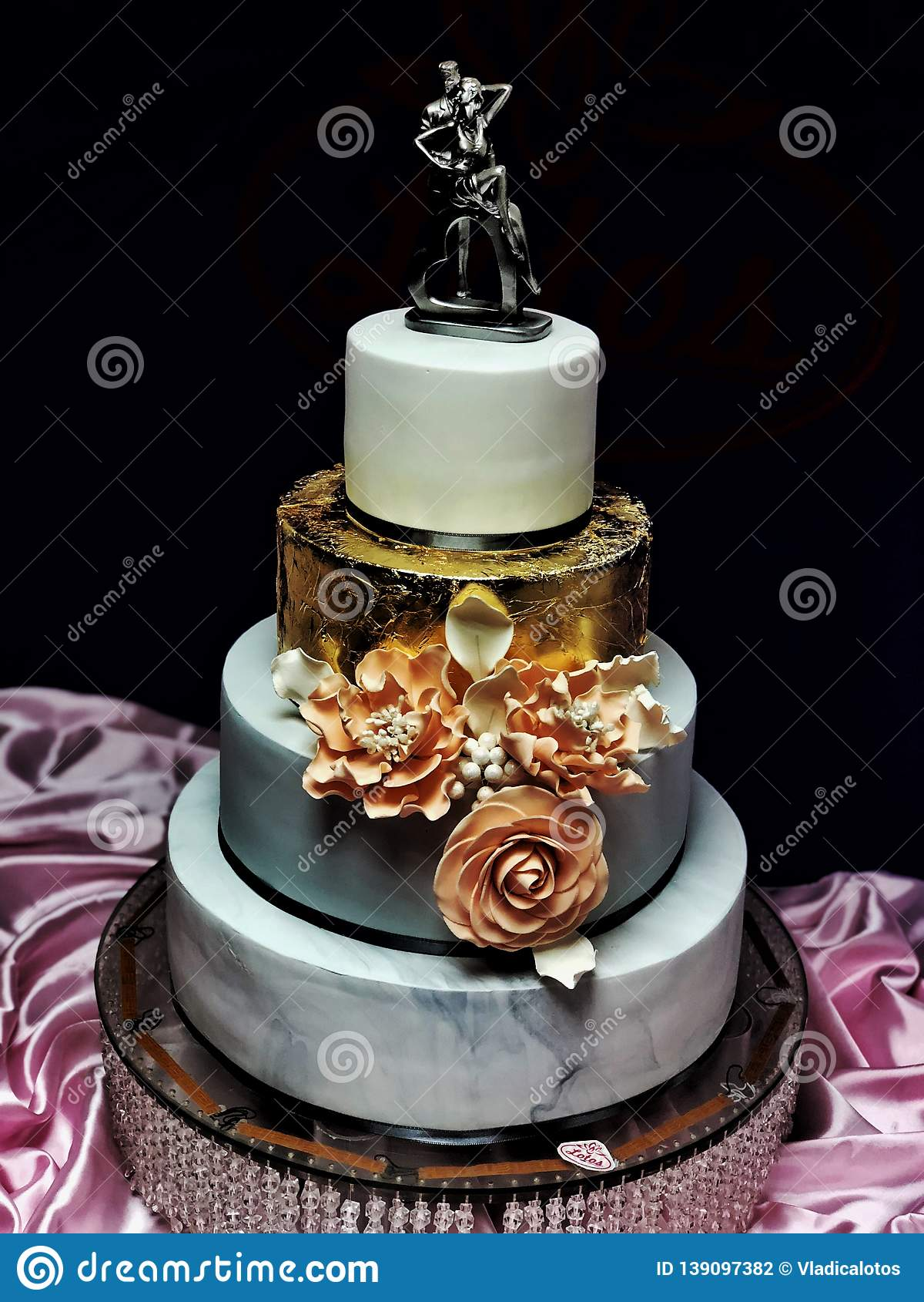 Brilliant Wedding Cake Day Luxury Cake Dream Sweet Royal Stock Photo Image Funny Birthday Cards Online Inifodamsfinfo
