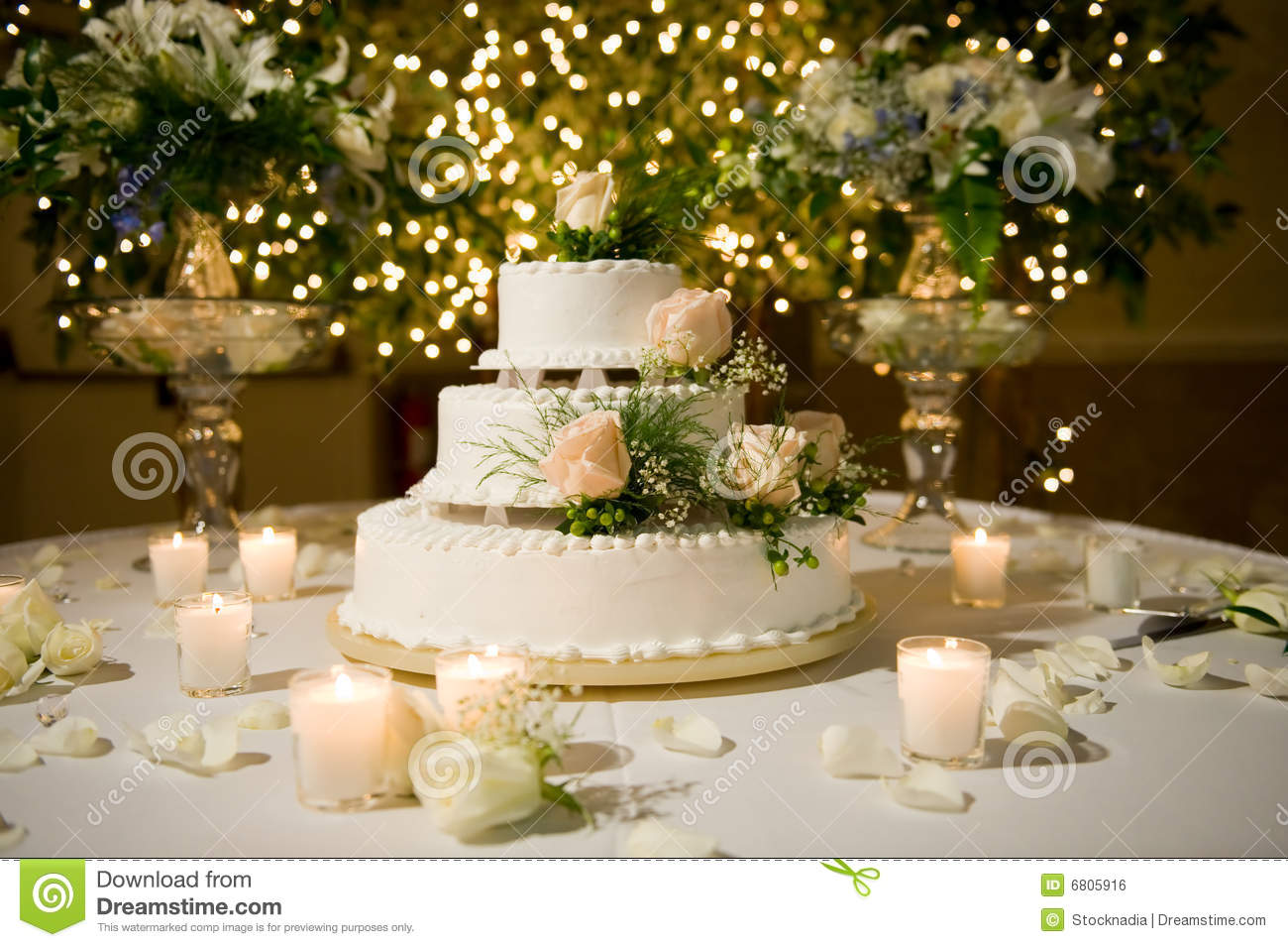 Wedding cake on the decorated table stock photo image 6805916 - Decorate a house online ...