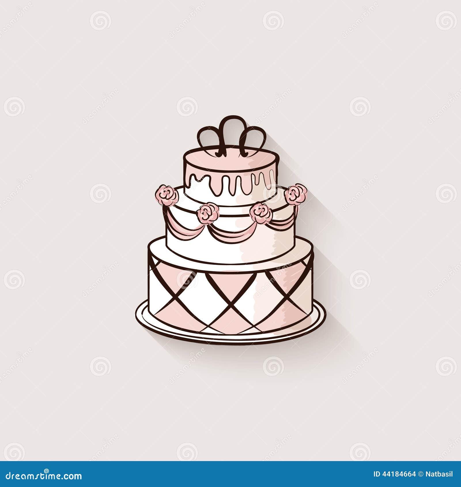 Wedding Cake Design Element Stock Vector - Image: 44184664
