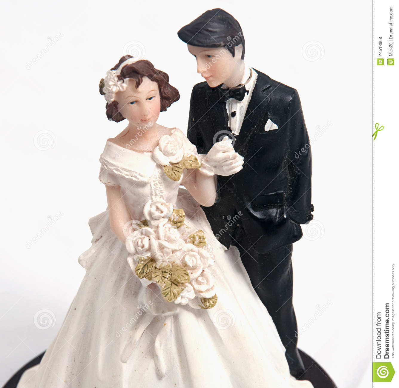 Wedding Cake Topper Paper Doll