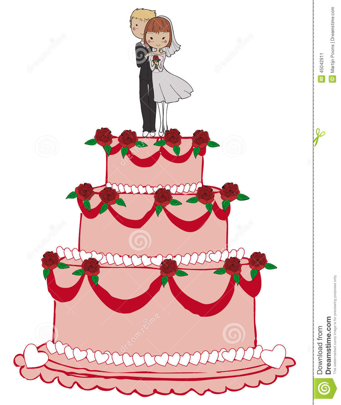 cartoon picture of a wedding cake wedding cake stock vector illustration of marriage 12418