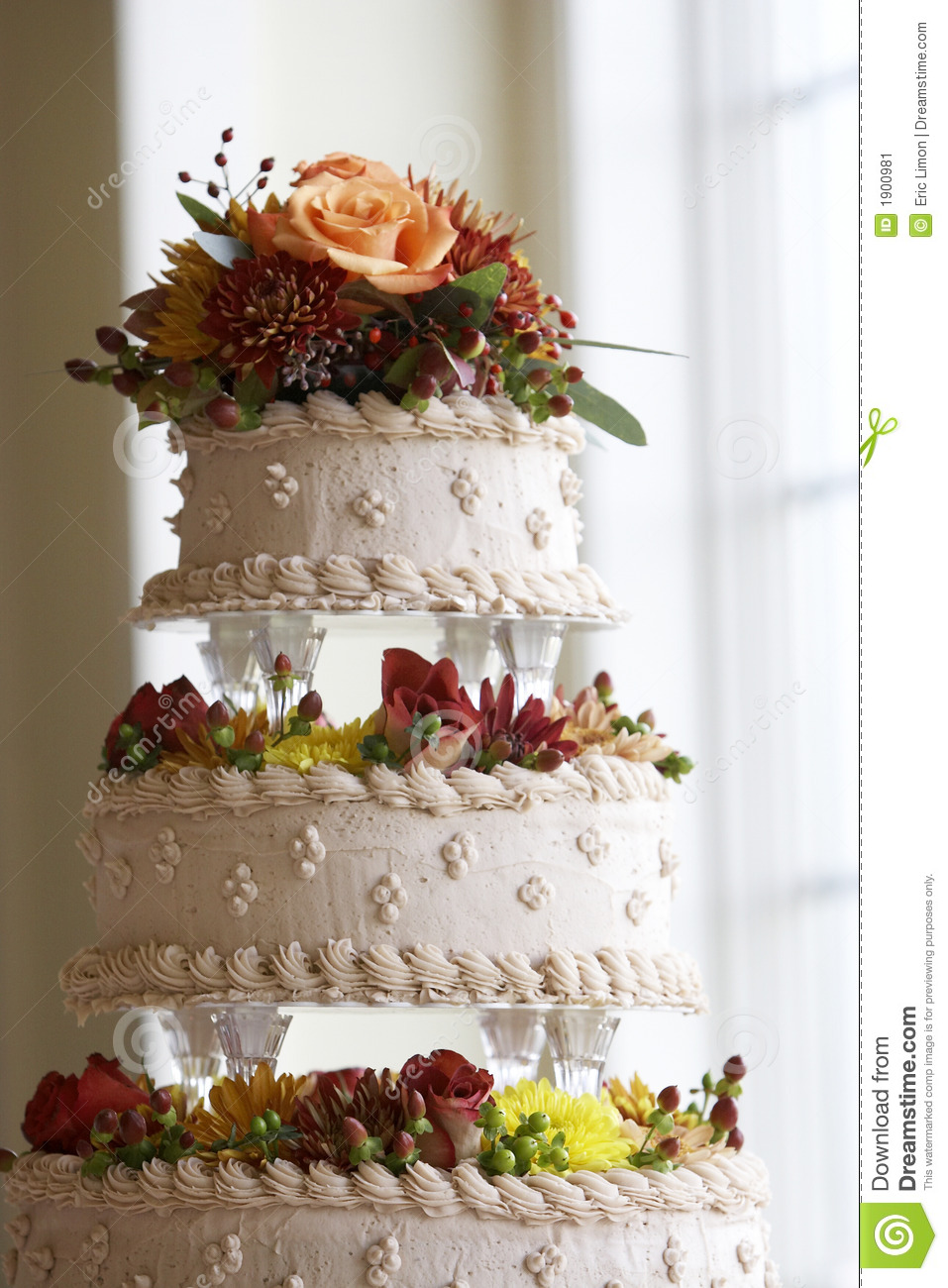 wedding cake flower decoration ideas wedding cake with flower decorations stock image image 22666