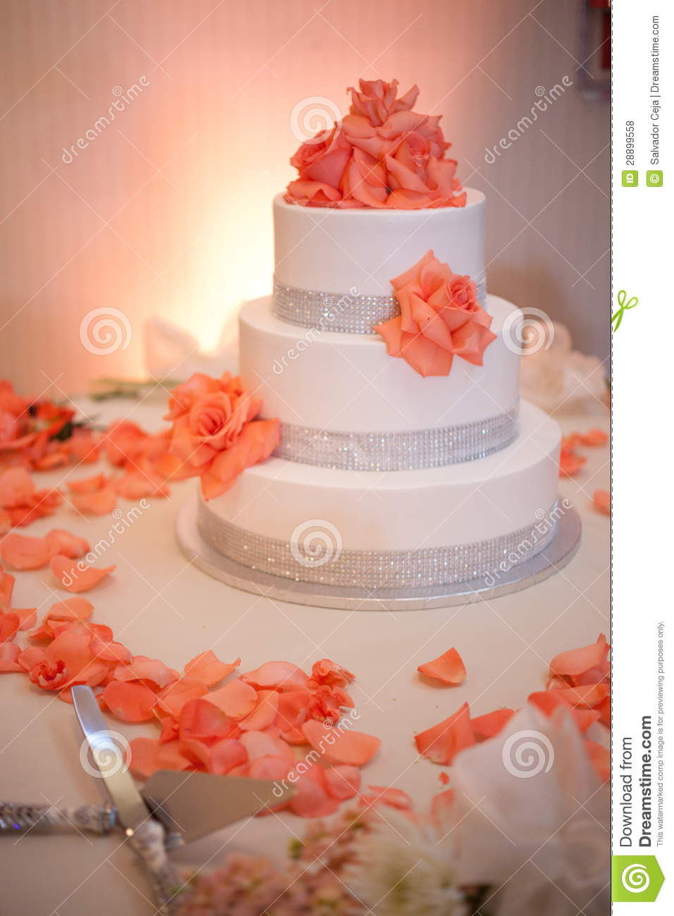 wedding cake with flowers on the side wedding cake with flowers stock photo image of cake 26884