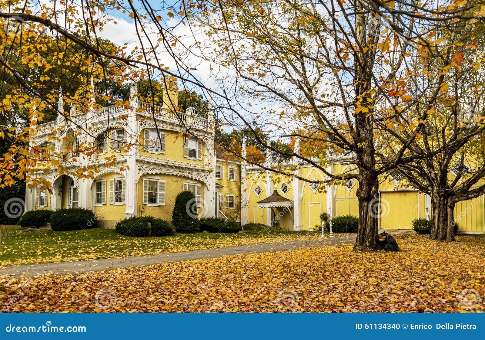 Wedding Cake House stock photo. Image of historic, winter - 61134340
