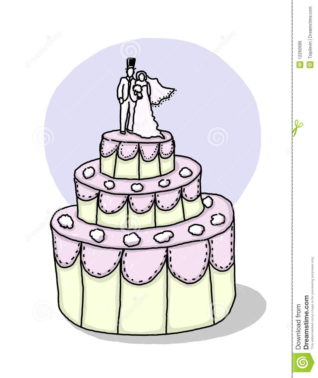 cartoon picture of a wedding cake wedding cake illustration stock illustration illustration 12418