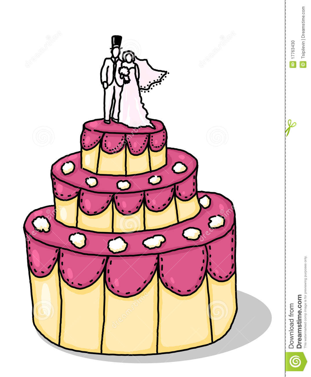 Wedding Cake Illustration Stock Illustration Image Of Illustration