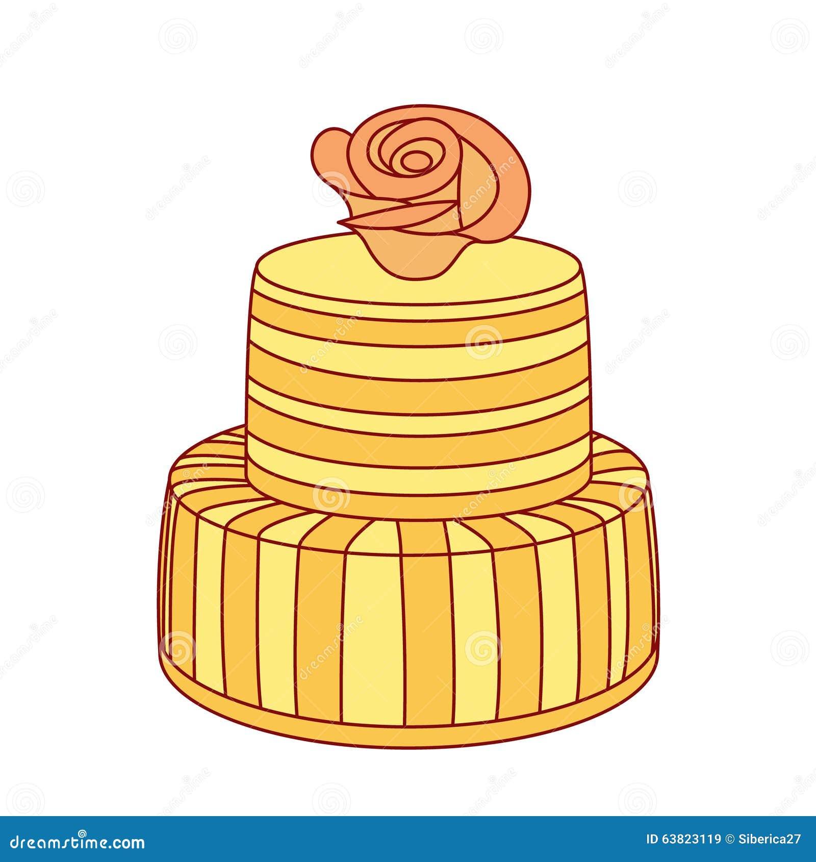 Wedding cake illustration. stock vector. Illustration of bakery ...