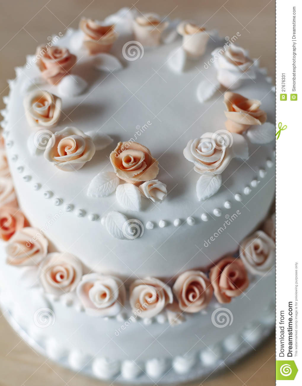 wedding cake decorated with rose petals wedding cake with decorations stock image image of 22365