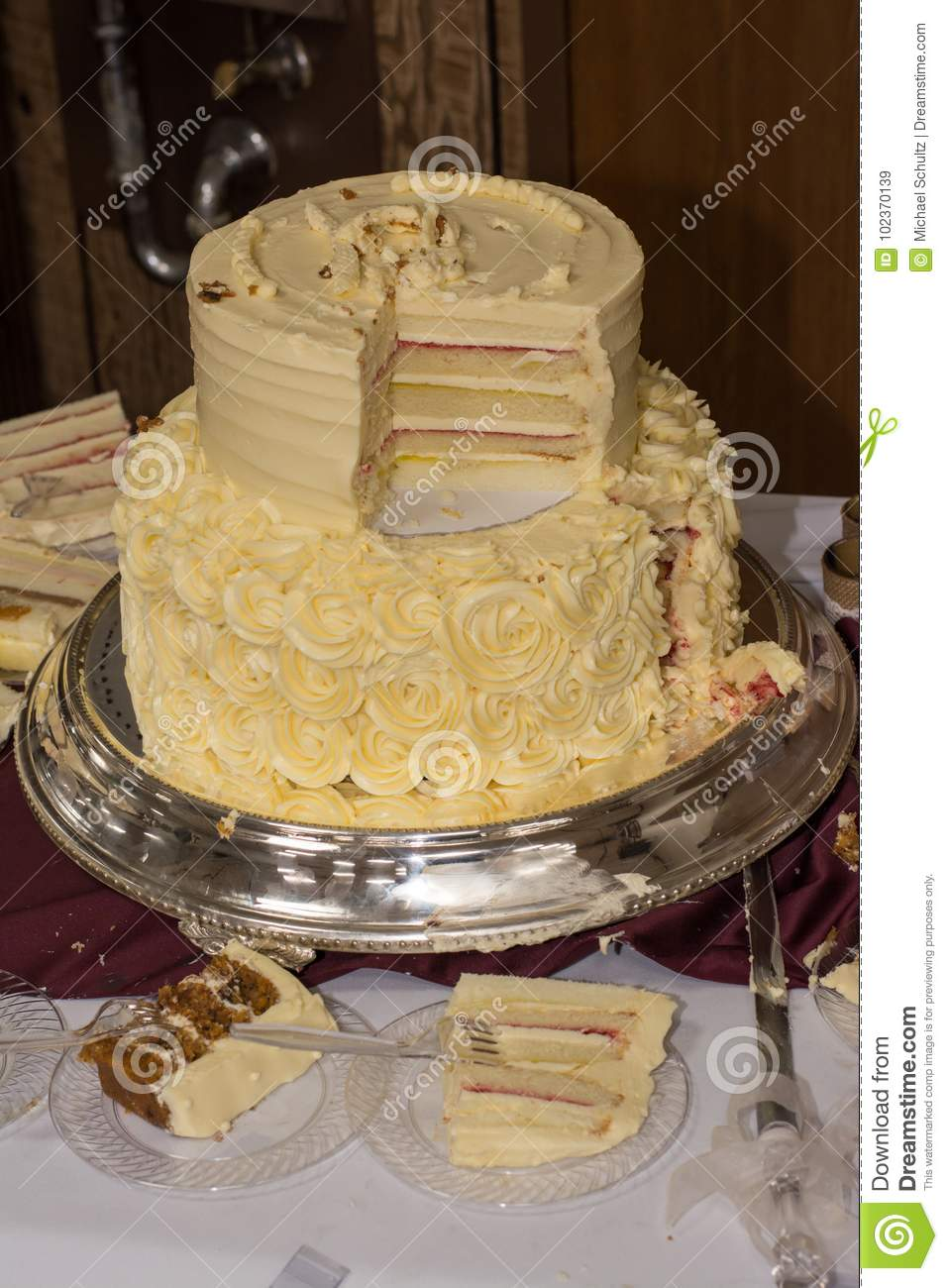 Wedding cake stock image. Image of dark, delicious, frosted - 102370139