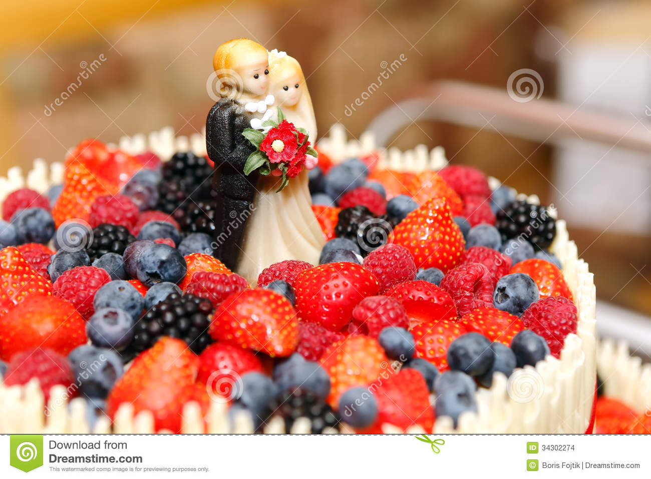 wedding cake recipes fruit wedding cake topper stock photo image of berry 23625