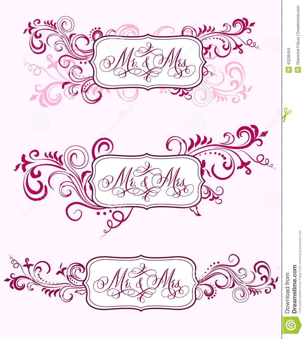 Hand-written with pointed pen and ink traditional wedding words 'Mr ...