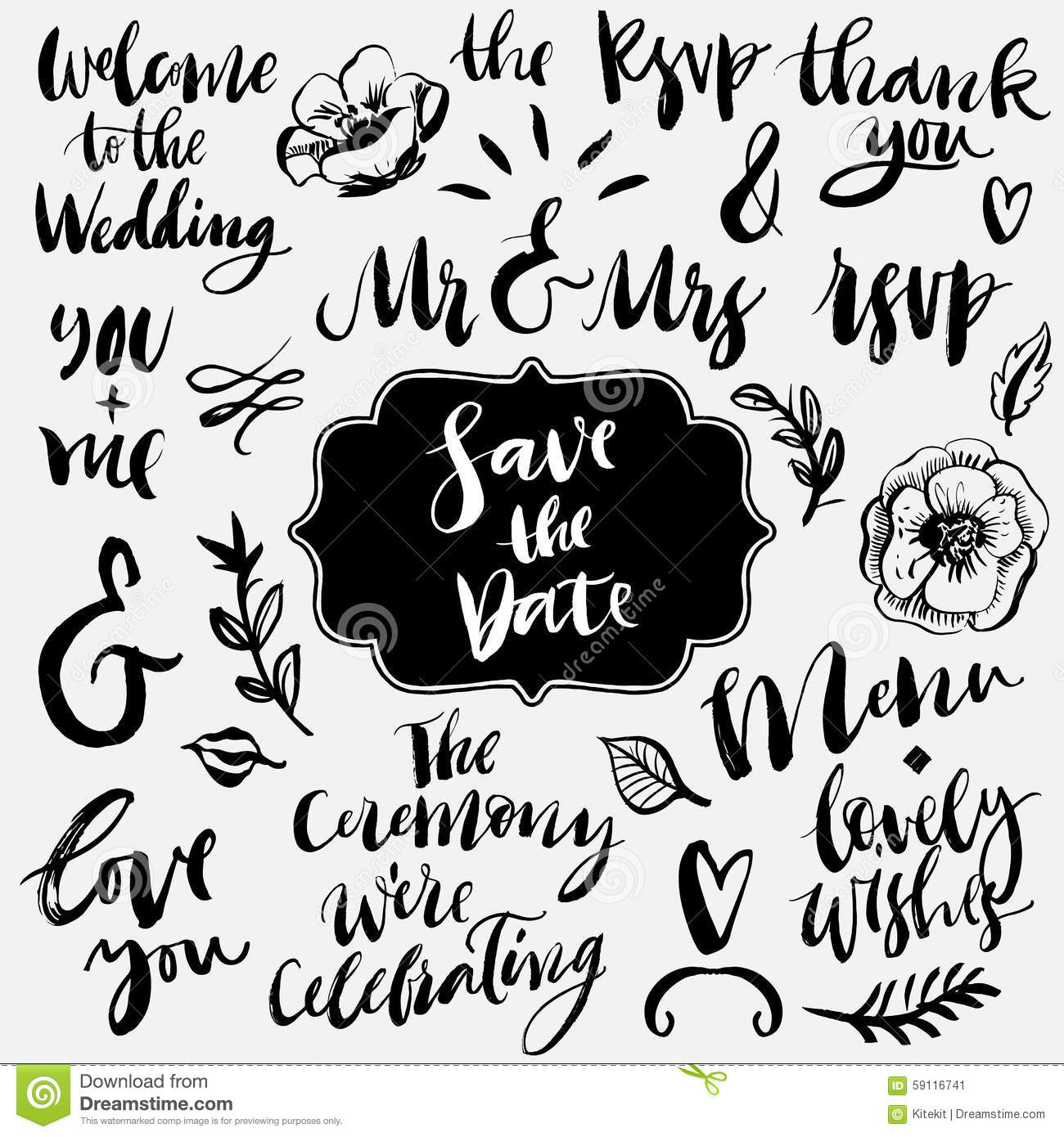 Wedding Calligraphy And Lettering Ampersands And
