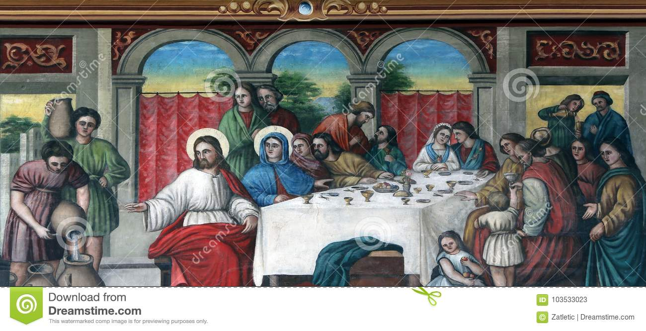 the wedding at cana stock image image of mary color 103533023