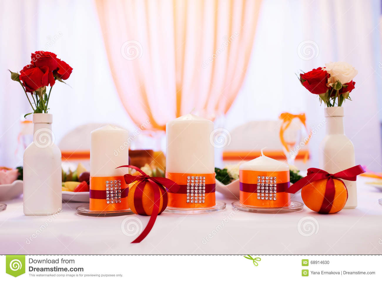 Wedding Candles On Restaurant Table Stock Photo Image Of Candle - Restaurant table candles