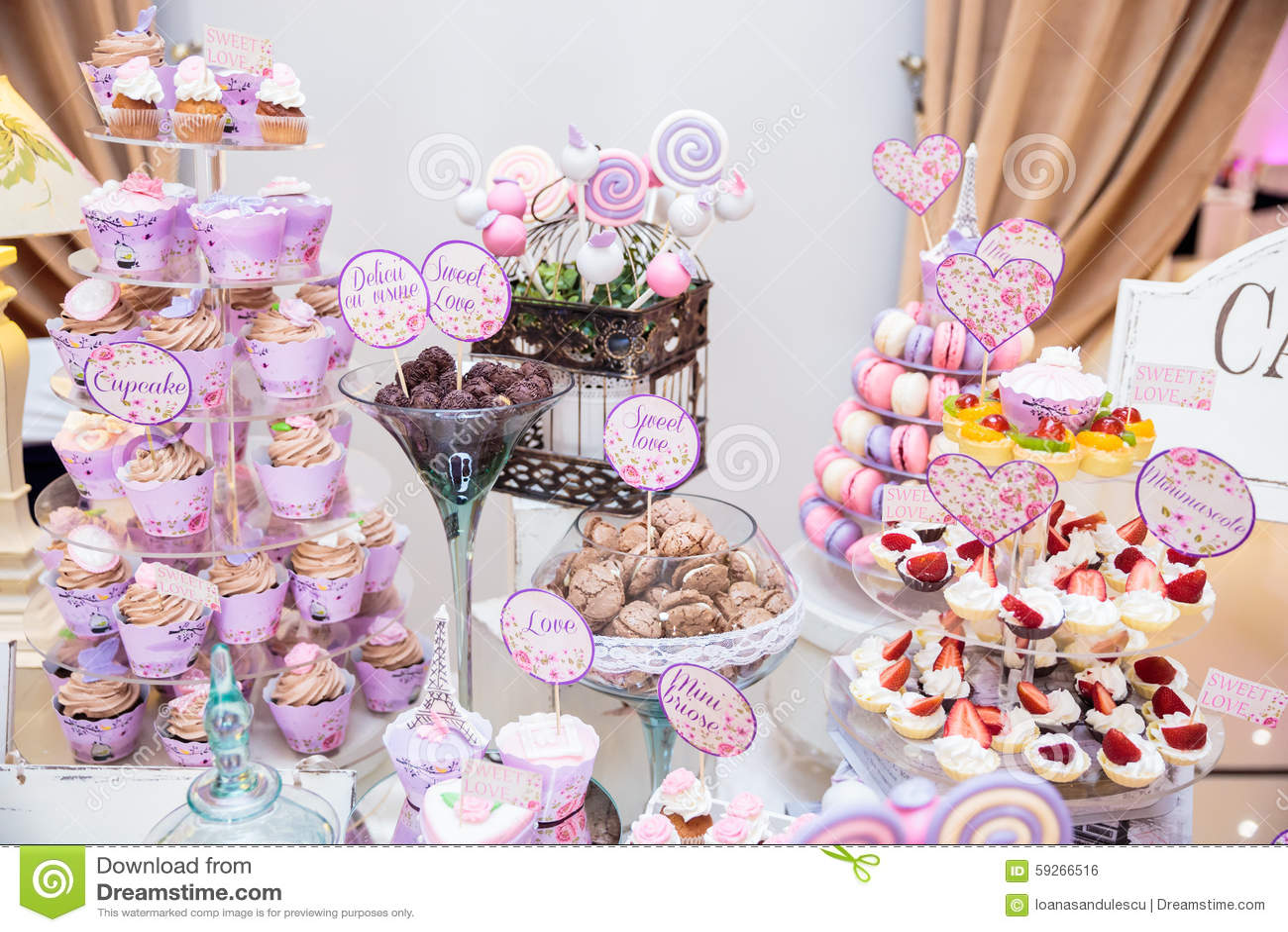 Wedding Candy bar stock photo. Image of baking, brown ...