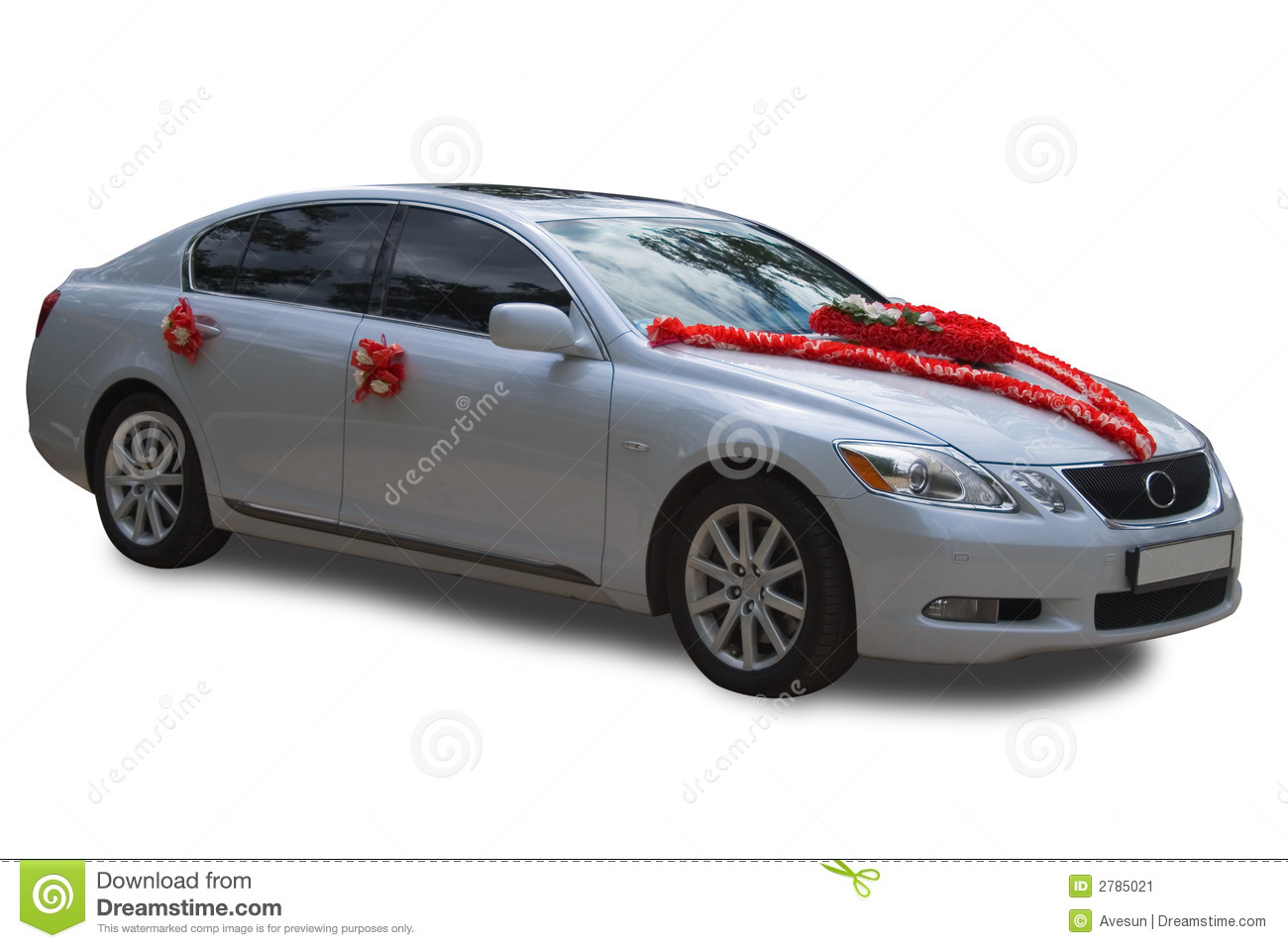 Wedding Car Decoration Stock Image