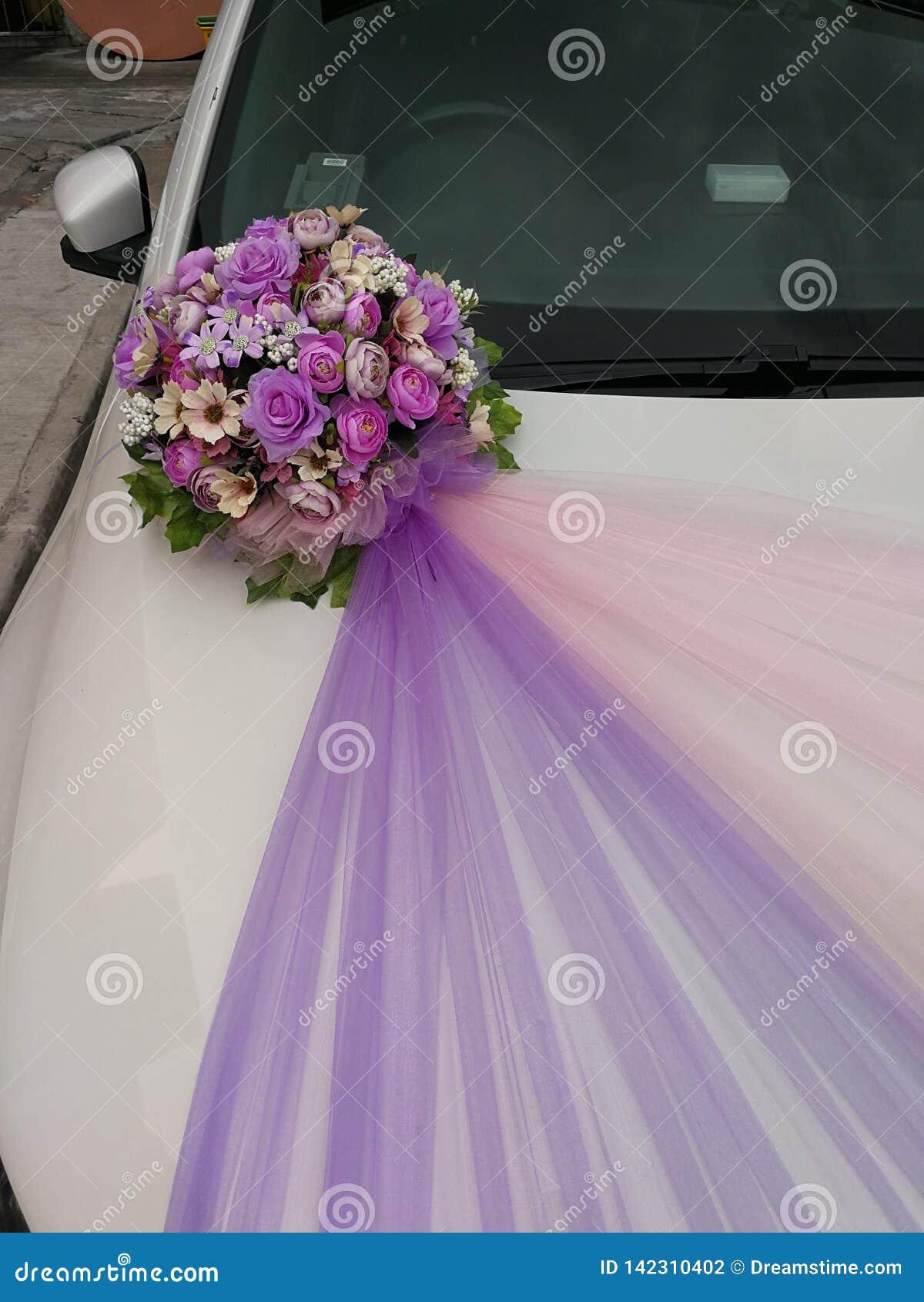 Wedding Car Decoration Artificial Flower Arrangement Stock