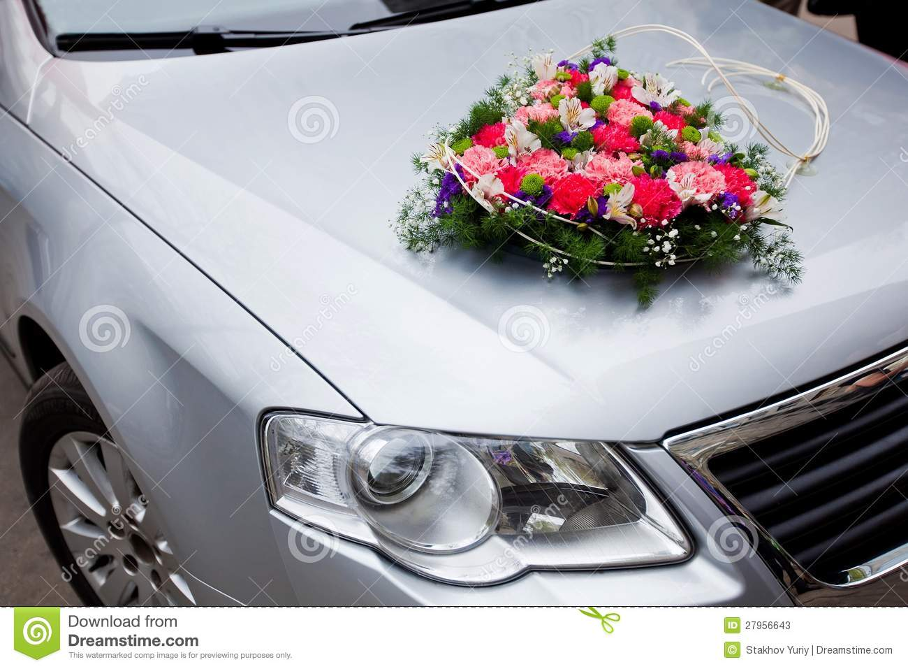 Wedding car decoration with flowers stock photos image for Automotive decoration
