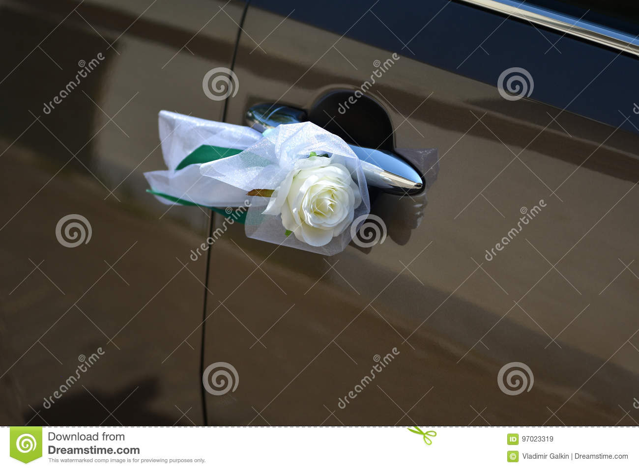 Wedding Car Decorations Stock Image Image Of Event Classical