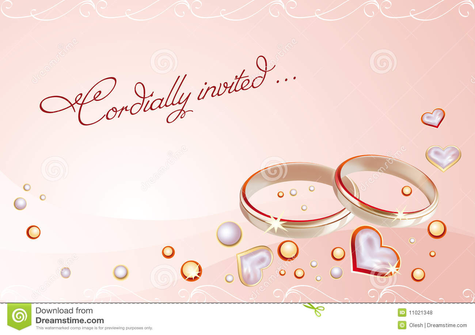 Blank Wedding Invitation with luxury invitation template