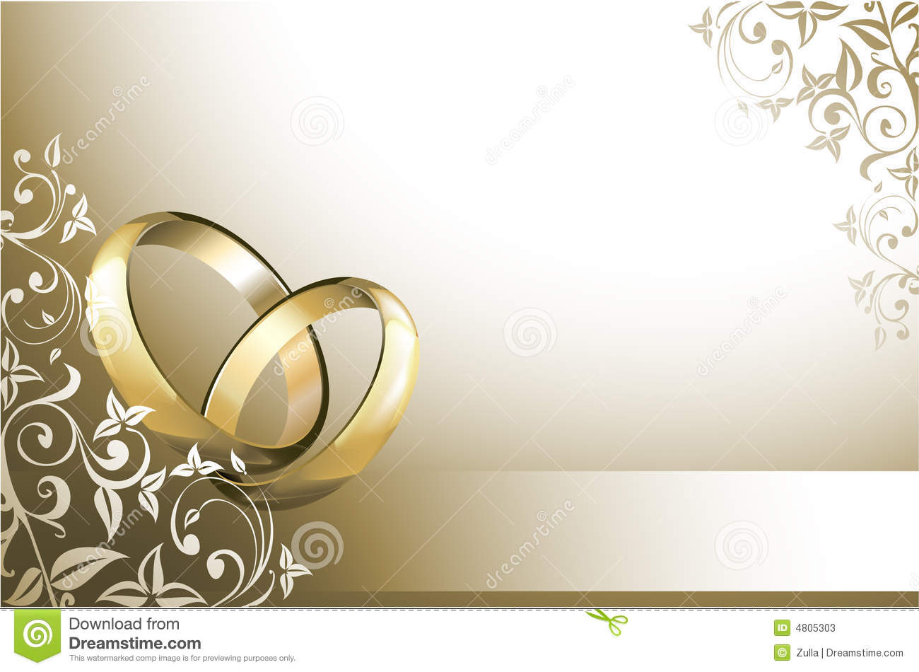 Wedding card stock vector Illustration of announcement 4805303