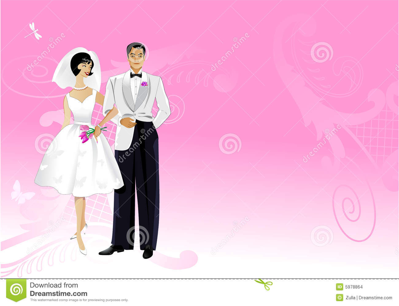 Wedding card stock vector Illustration of love cute 5978864