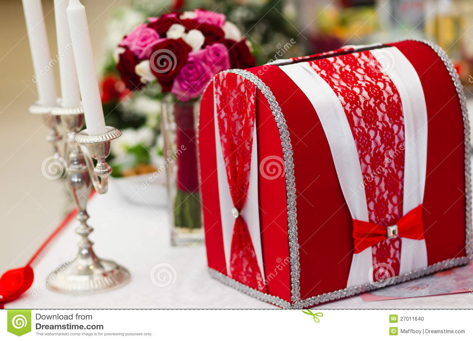 Wedding Card Box Photo Image 27011640 – Red Wedding Card Box