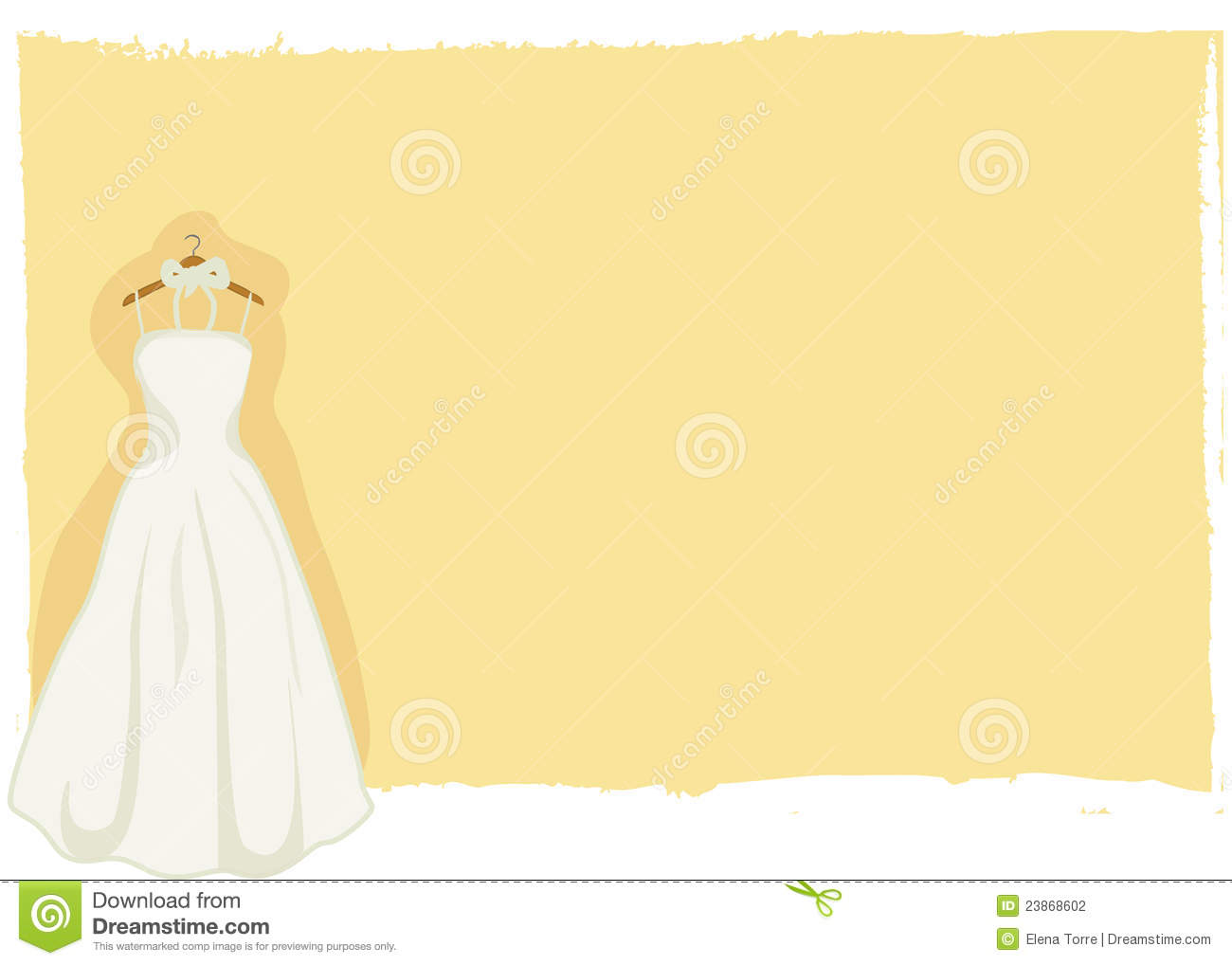 wedding card bridal gown vector stock photography