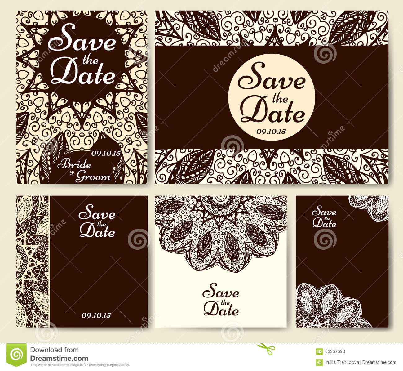 Wedding card collection with mandala template of invitation card wedding card collection with mandala template of invitation card decorative greeting invitaion design with vintage islam arabic indian matifs stopboris Images