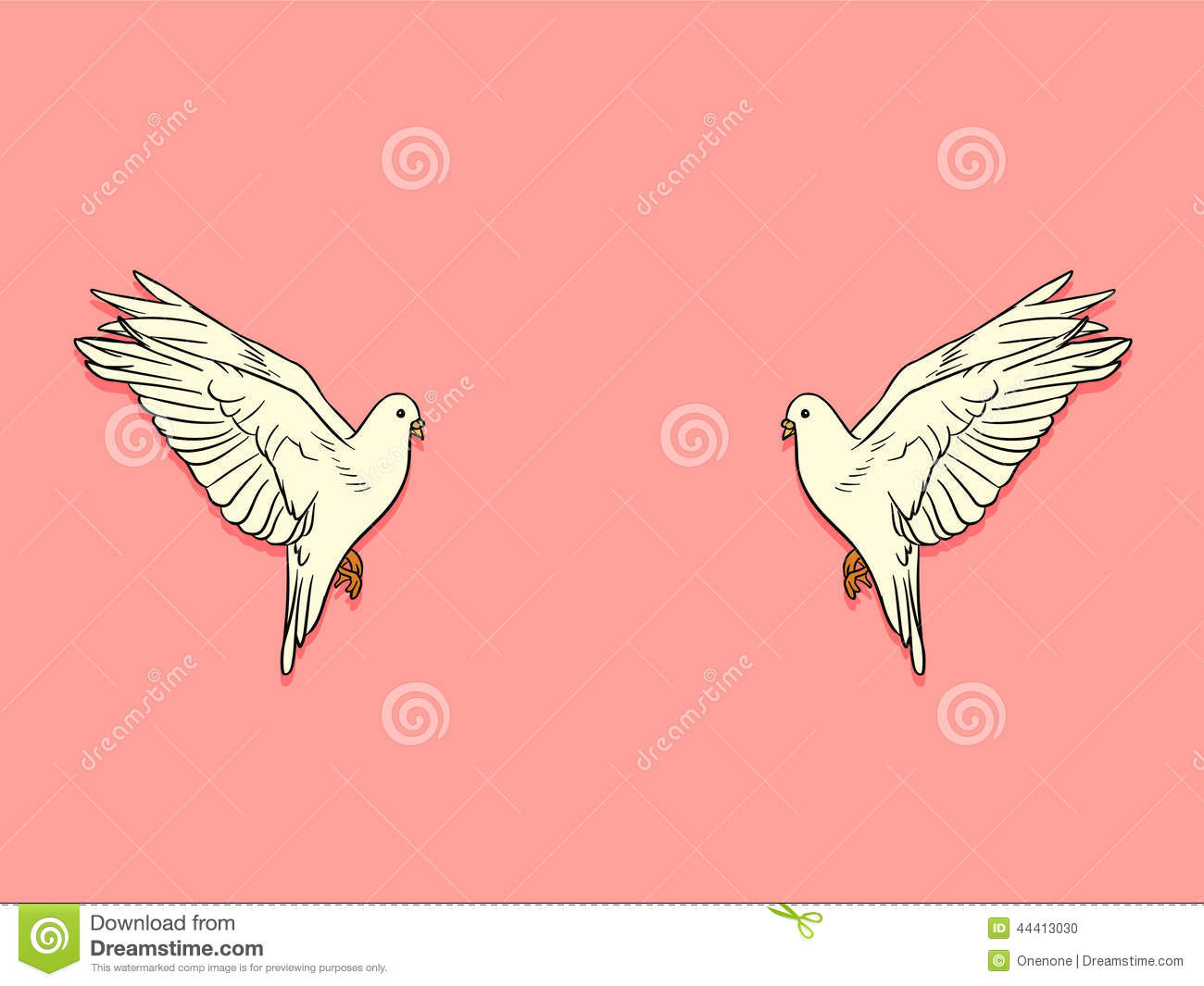 Wedding Card : Couple Doves Lover Stock Vector - Illustration of ...