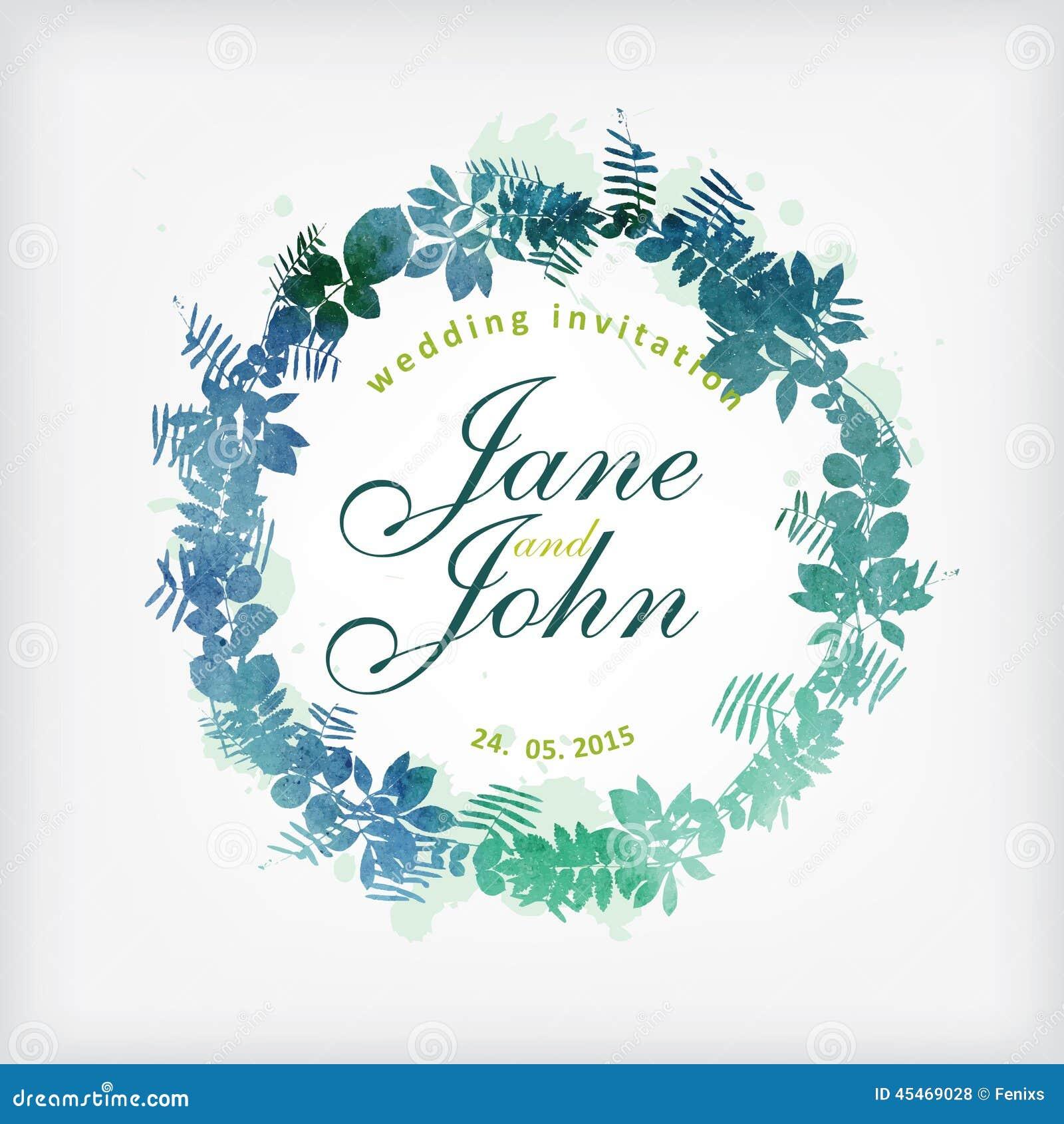 Wedding Card Design. Stock Vector - Image: 45469028