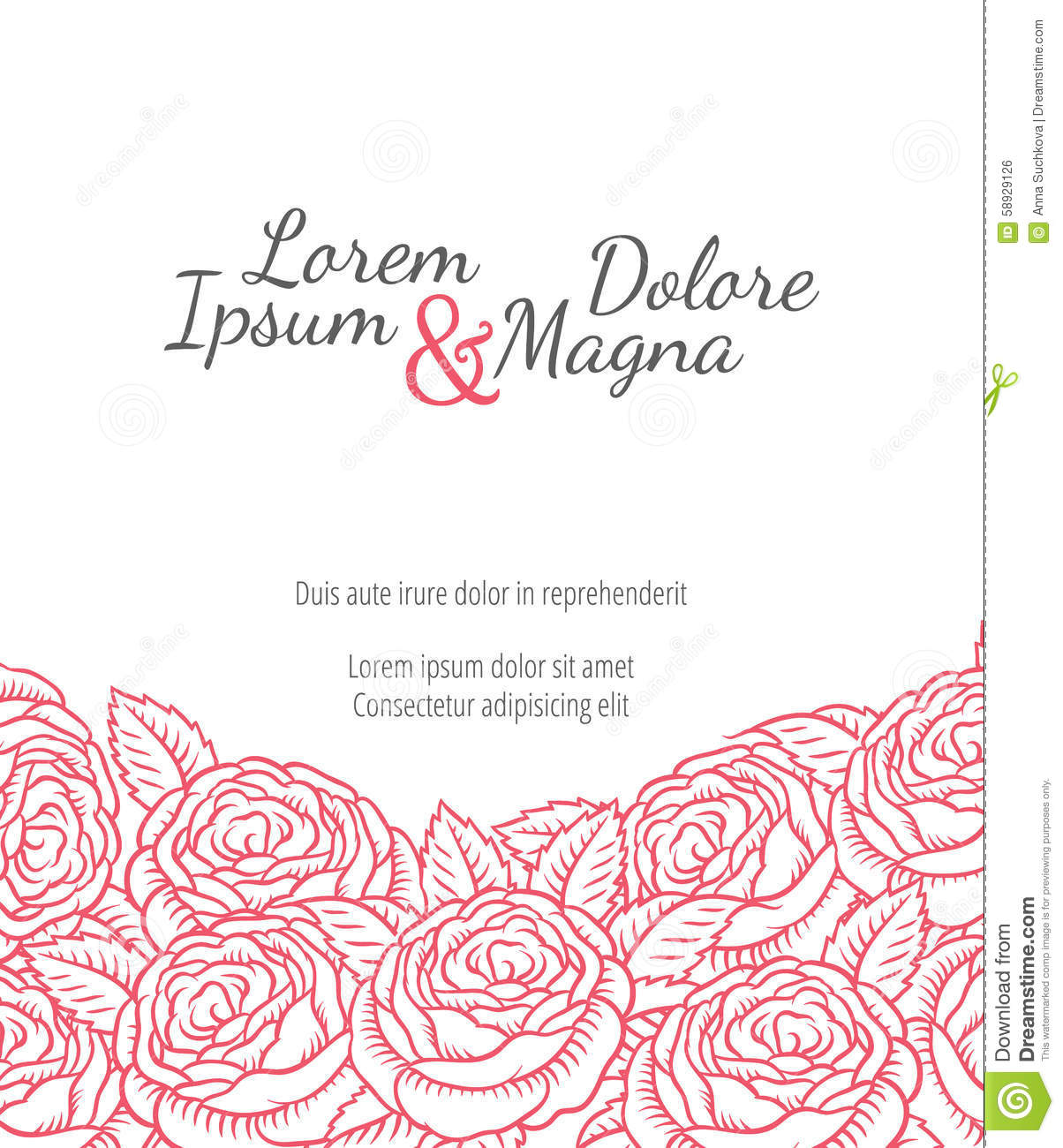 flower drawing on wedding cards