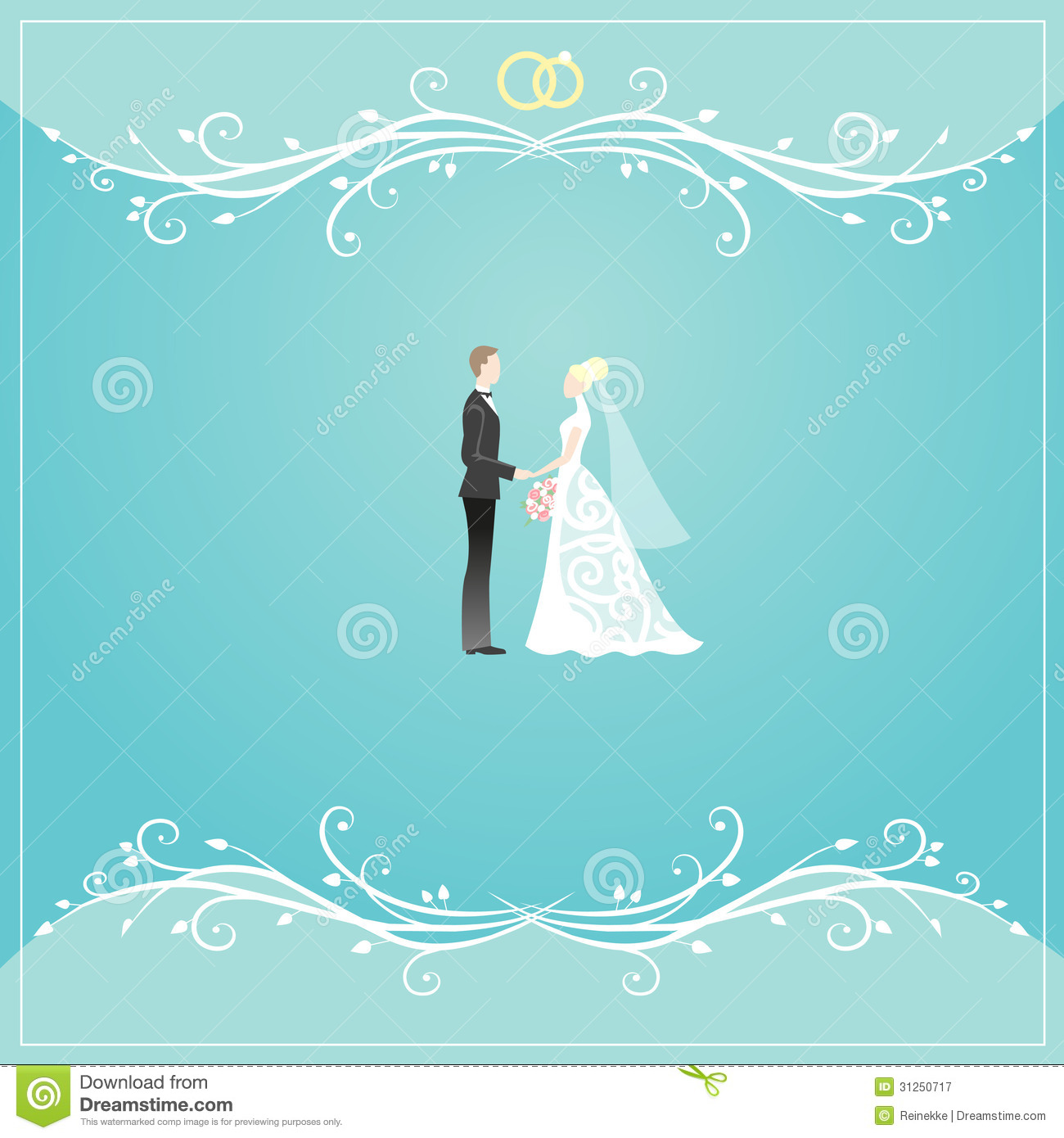 Wedding card stock vector Illustration of blue groom 31250717