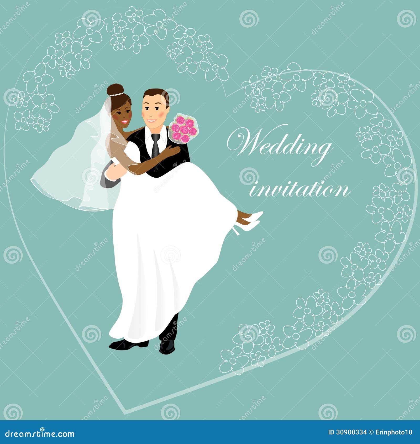 Wedding card 1 stock illustration. Illustration of hugging - 30900334