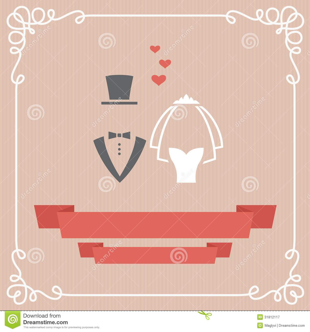 Wedding card stock vector illustration of groom dress 31812117 wedding card stopboris Images