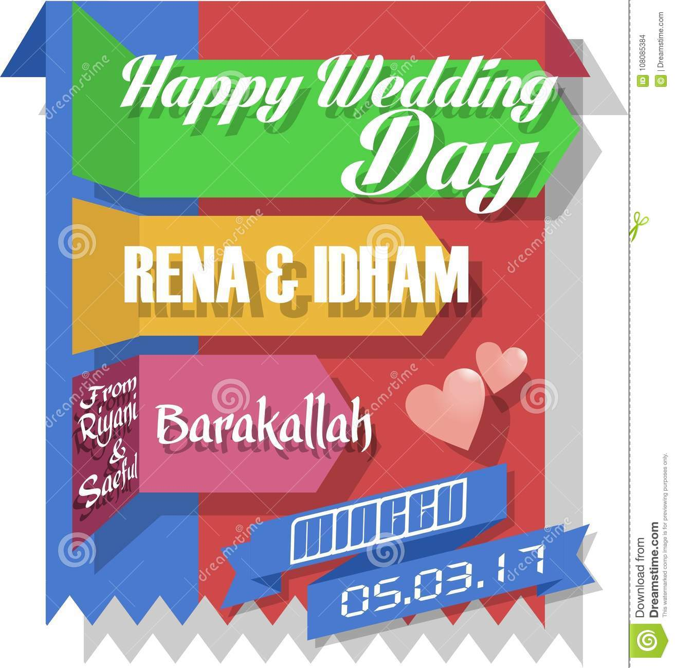 Wedding Card For New Couple Stock Vector - Illustration of ...