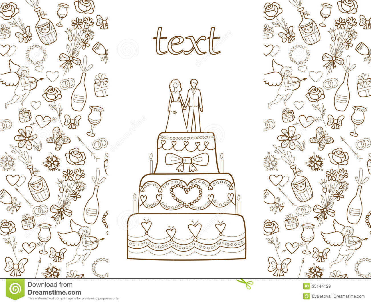 Wedding Card Pattern Royalty Free Stock Images Image