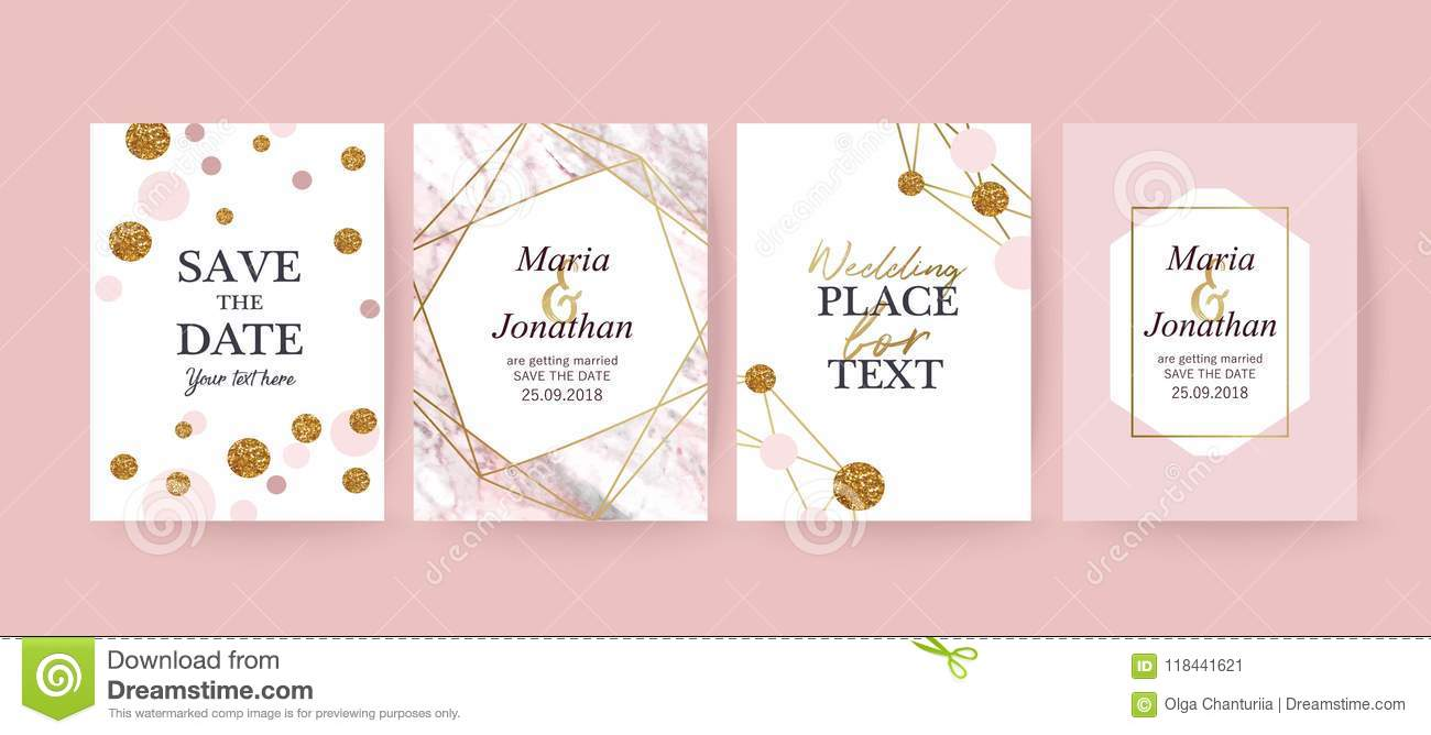Pink Marble And Gold Texture Background Card Stock