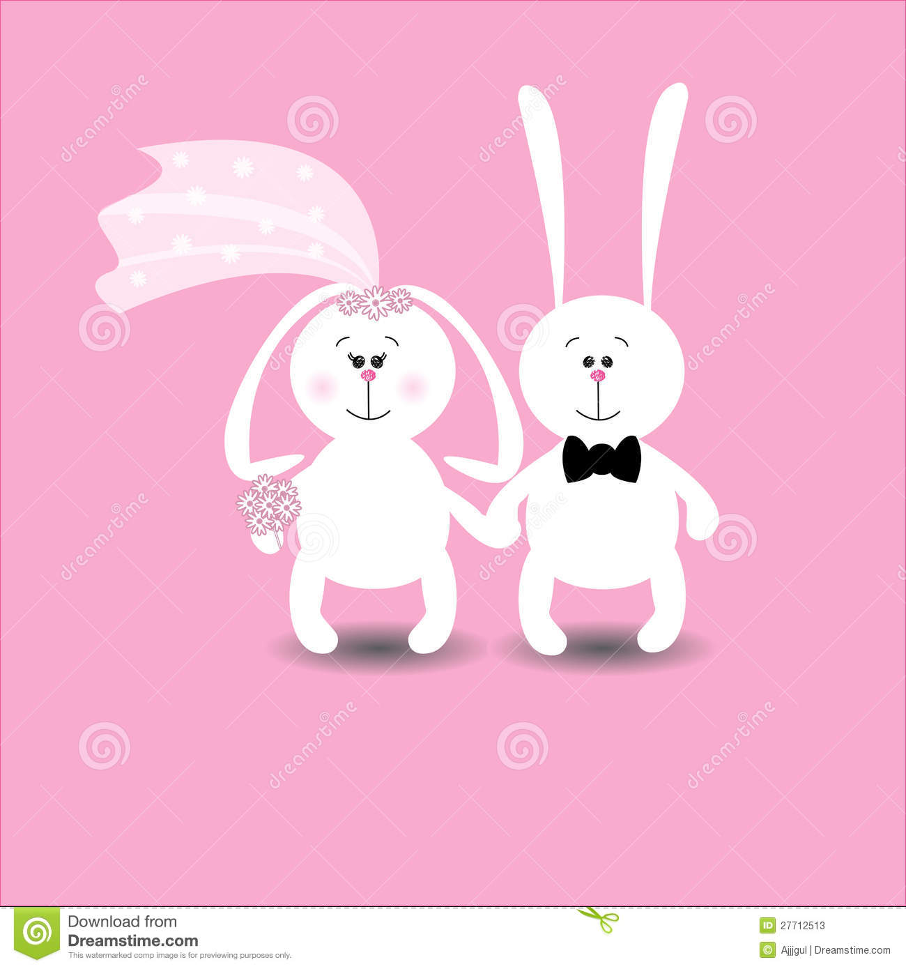 Best Wedding Ring Funny Wedding Rings : Cute Wedding Card With Rabbits  In Love