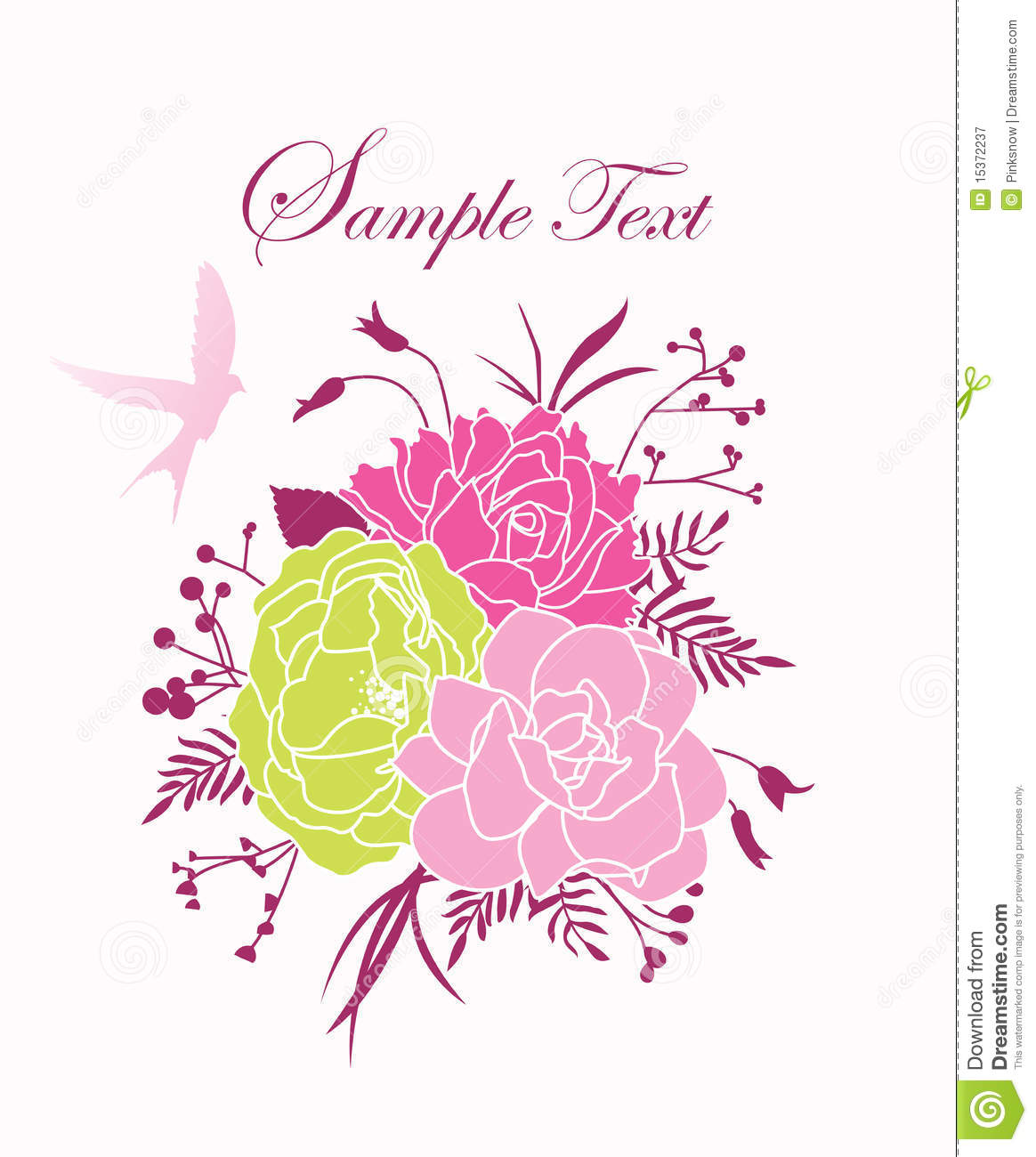 Wedding Card Template Royalty Free Stock Photography - Image: 15372237