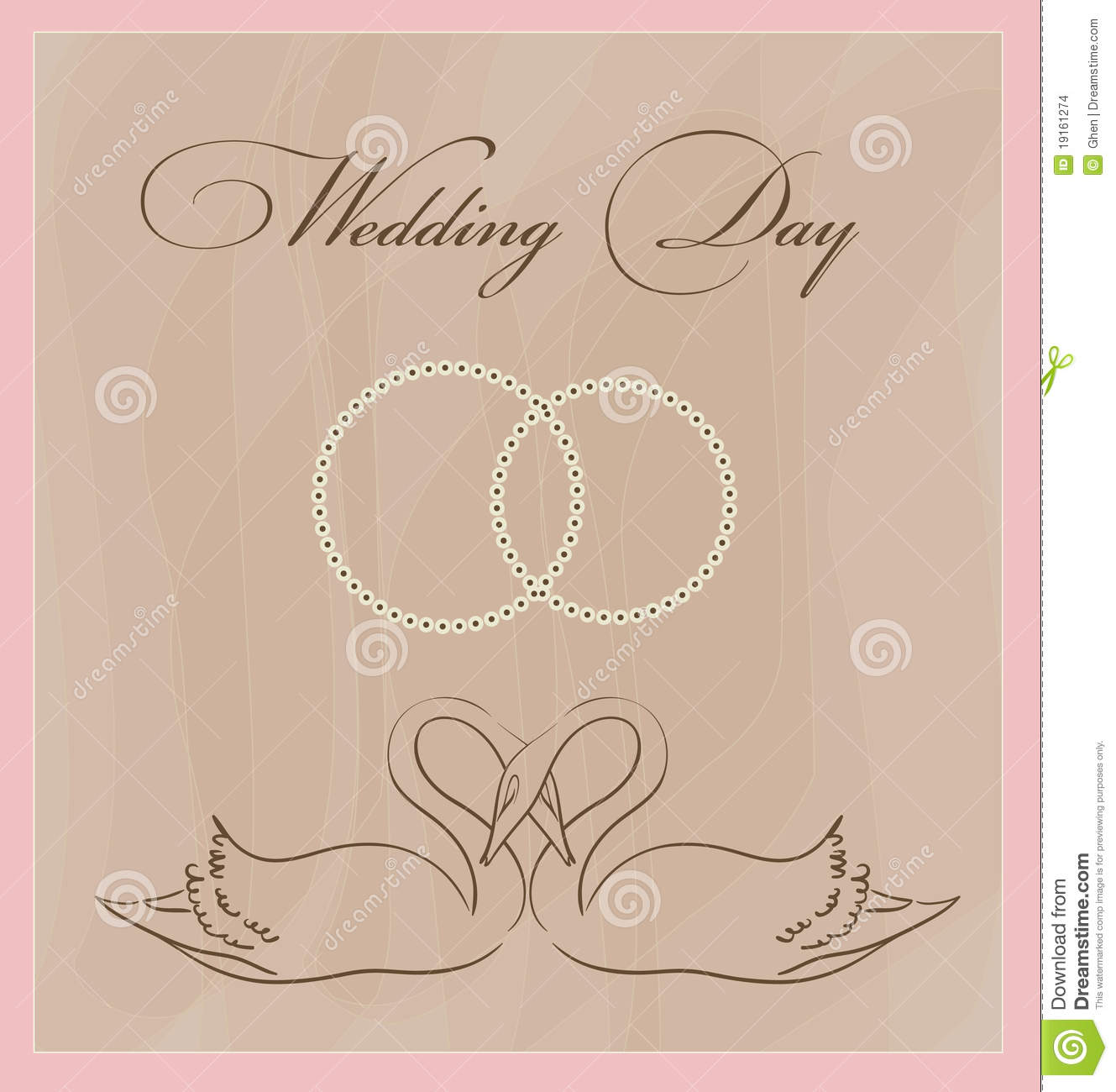 Wedding Card Template Stock Images - Image: 19161274