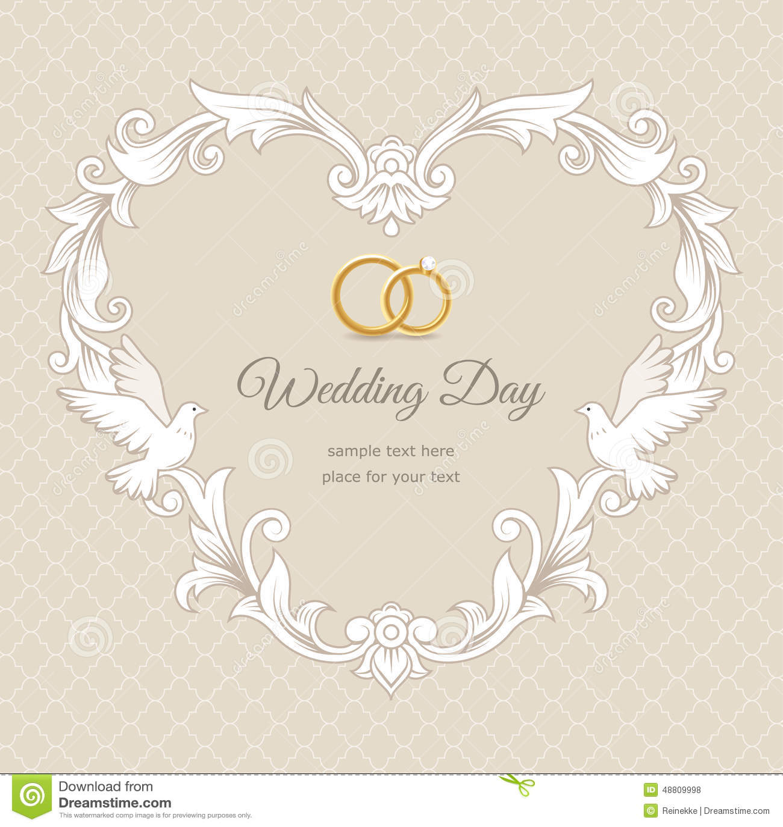 Wedding Card Stock Vector Illustration Of Rings Love 48809998