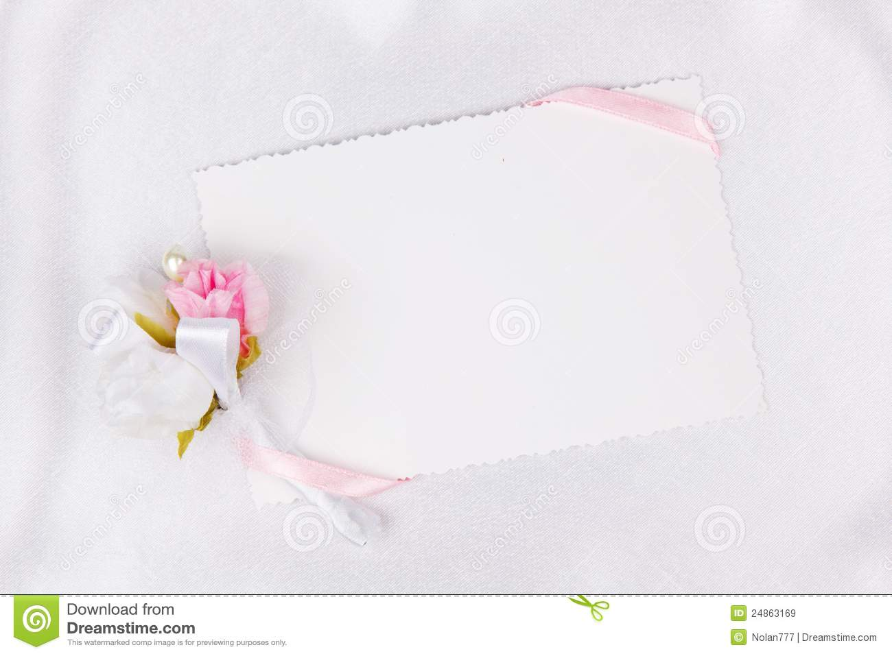 wedding card for text and accessories royalty free stock