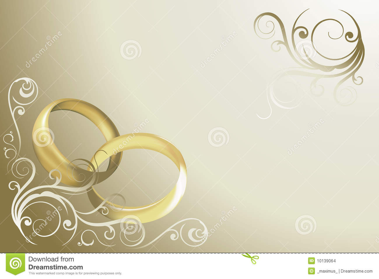 Wedding Card Vector Stock Images - Image: 10139064