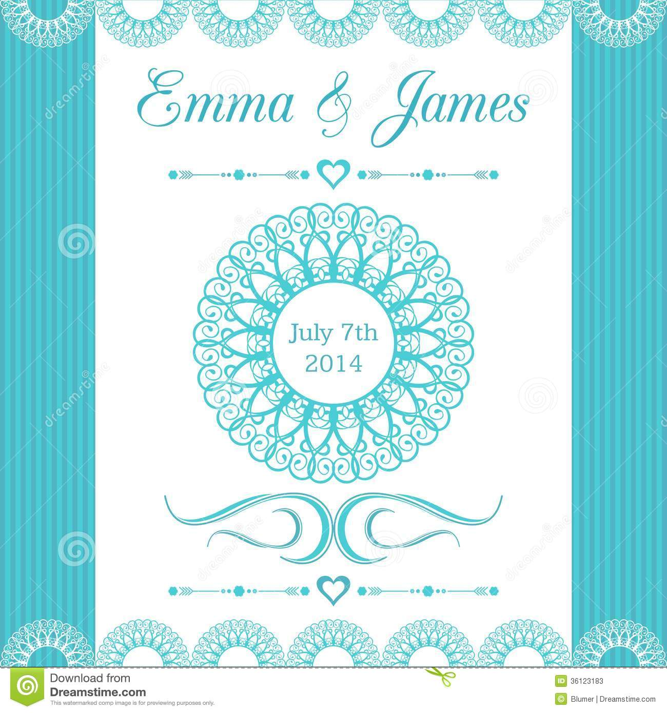 Wedding ornaments 2014 - Royalty Free Stock Photo