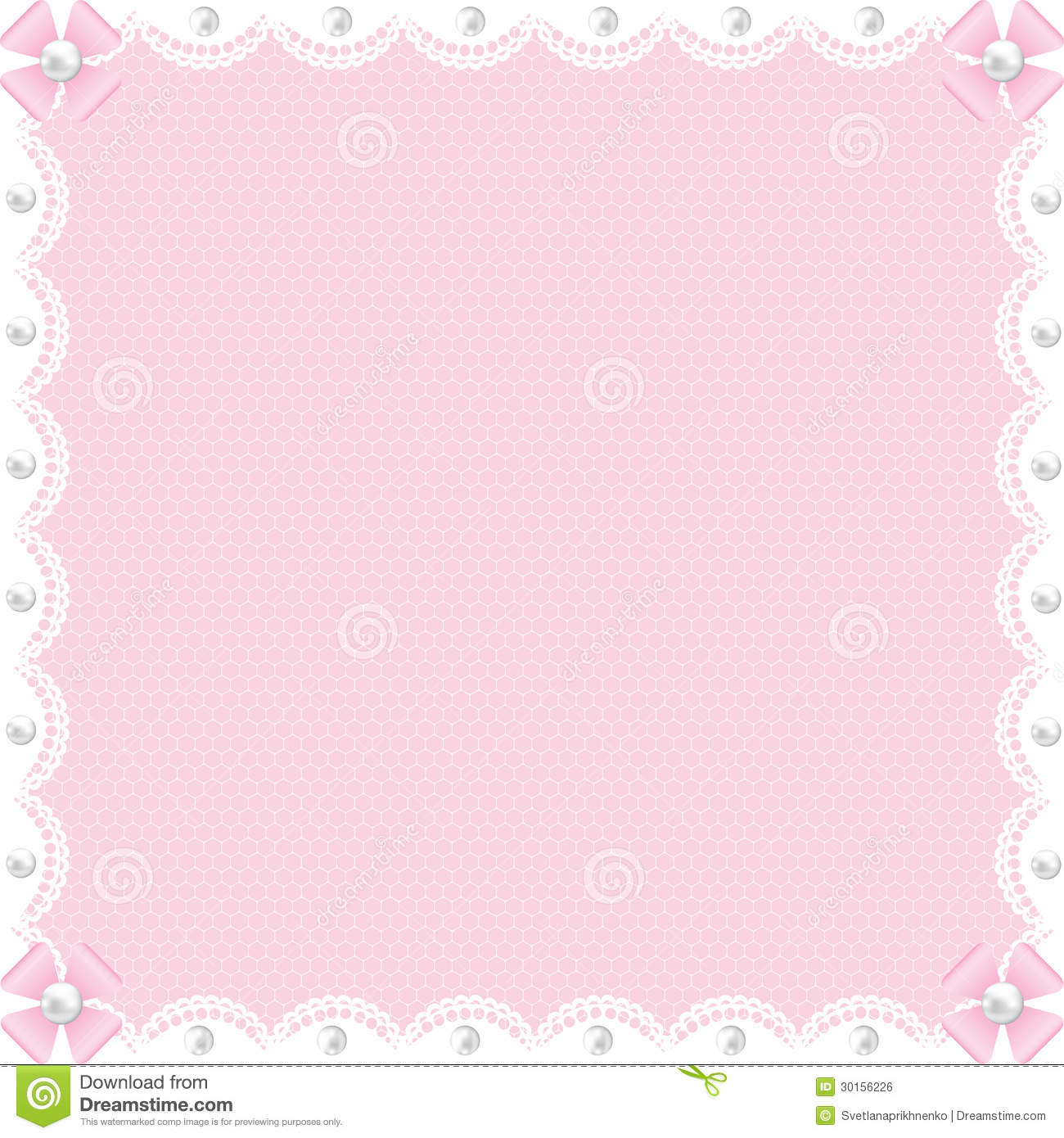 White Lace Background And Pearls Stock Vector ...