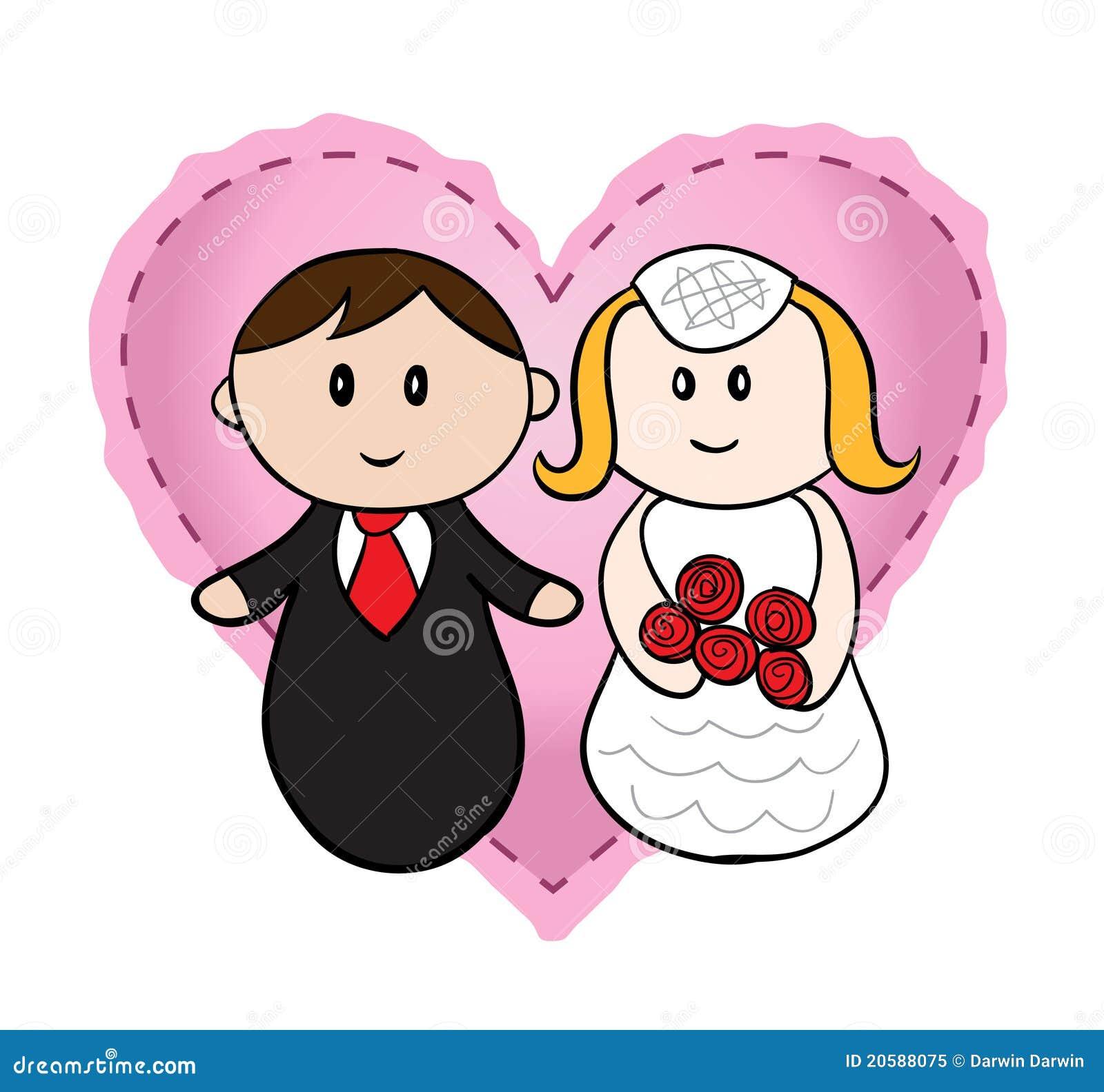 Wedding Cartoon stock vector. Illustration of people - 20588075