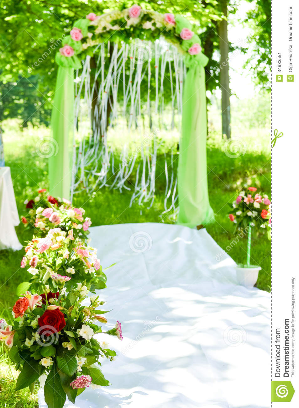 Wedding Ceremony Arch Decoration Stock Image - Image: 34983551